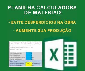 Planilha Calculadora de Materiais